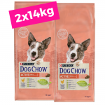 2 X DOG CHOW Adult Active/Frango 14kg