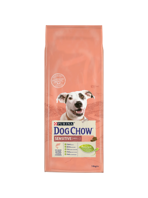 DOG CHOW 14Kg Adult Sensitive/Salmão+OFERTA