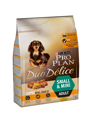 Purina PRO PLAN DUO DELICE Small & Mini Adult com Frango e Arroz 2,5kg