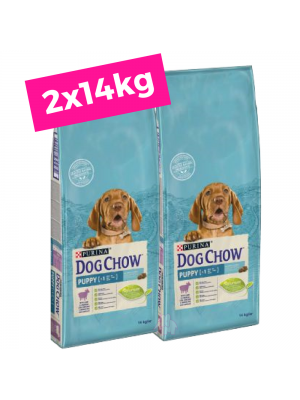 2 X DOG CHOW Puppy/Borrego 14Kg