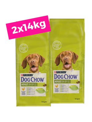2 X DOG CHOW Adult/Frango 14Kg