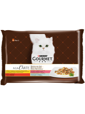 PURINA GOURMET A la Carte Receitas do Chef Peixe do Oceano 4x85g