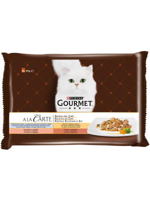 PURINA GOURMET A la Carte Receitas do Chef Frango 4x85g