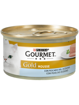 PURINA GOURMET Gold Mousse com Peixe do Oceano 85g