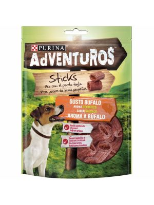 PURINA ADVENTUROS Mini Sticks Snack de Cão com aroma a Búfalo 90g